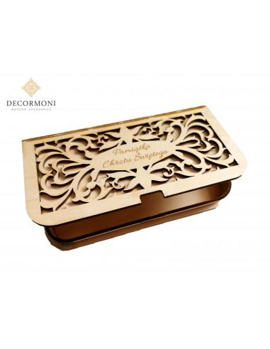 Pamiątka chrztu drewniane pudełko z...