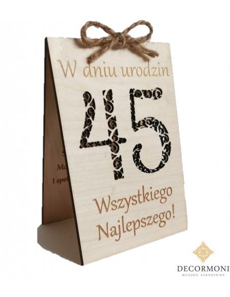 kartka urodzinowa dla faceta z drewna