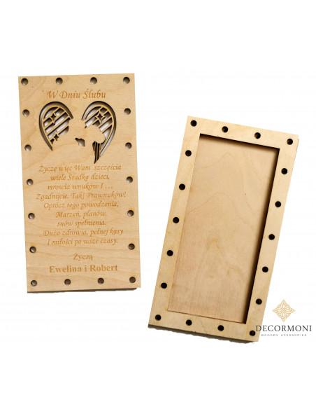 kartka ślubna zakręcona na śruby
